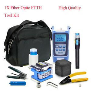 Professional Fiber Optic Ftth Tool Kit W fc 6s Fiber Cleaver optical Power Meter