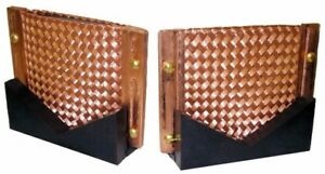 Copper Braided Contact Pads With V block For Magnetic Particle Inspection Ndt