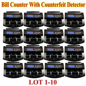 Money Bill Counter Professional Uv Currency Cash Counting Machine Bank Sorter Fg