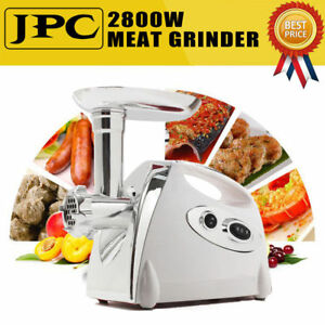 2800watt Electric Meat Grinder Kitchen Sausage Stuffer Home Appliances Usa