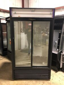 True Gdm 2 Door Glass Refrigerator Used Cooler Merchandiser Commercial