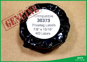 12 Rolls Of 30373 Rat Tail Style Price Tag 400 Labels Per Roll Dymo Compatible