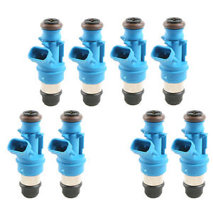 Set Of 8 Pcs Fuel Injectors 42lb 440cc For 2001 2004 Gm Marine 8 1l Truck New