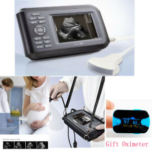 Handheld Ultrasound Scanner Machine Convex Probe pulse Oximeter Battery Case