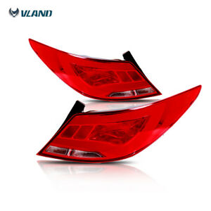 Tail Lights Led Rear Lamp Red Clear For 2012 15 Hyundai Accent Verna Solaris New