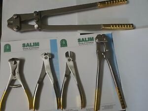 Hard Ware Cutter Pliers 5 Pieces Veterinary Orthopedic Instruments Salim group