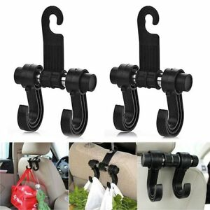 2x Car Truck Seat Back Hanger Organizer Double Hook Headrest Holder Uswarehouse