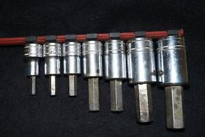Snap On Tools Mixed Lot Of Metric Allen Sockets