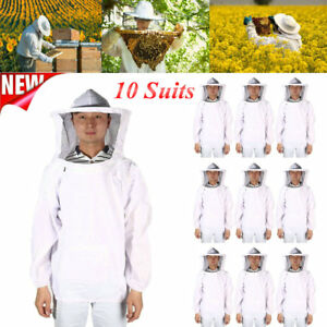 10 Pack X large Beekeeping Bee Keeping Suit Jacket Pull Over Smock Veil Xl To