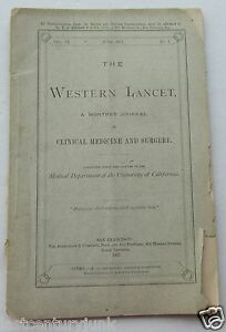 Booklet For The Western Lancet Clinical Medicine Surgery 1877 Original