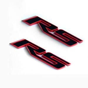 2x Oem Red Line Rs Emblem Badge 3d For Camaro Chevy Series Fu