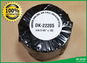 Continuous Feed White Thermal Label 100 Rolls Dkl 2205 Brother Ql 500 Compatible
