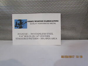 3 16 Holes 20 Gauge 304 Stainless Steel Perforated Sheet 24 X 24
