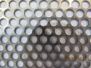 3 16 Holes 18 Gauge 304 Stainless Steel Perforated Sheet 23 X 23