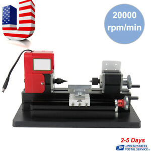 usa Motorized Mini Metal Lathe Machine Turning Woodworking Teaching Diy Tool