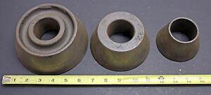 Large Centering Cone Set For Brake Lathe 2 Arbor 2 1 2 6 Ammco Van Norman