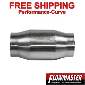 3 Flowmaster Catalytic Converter High Flow Stainless Metallic 200 Cell 2000130