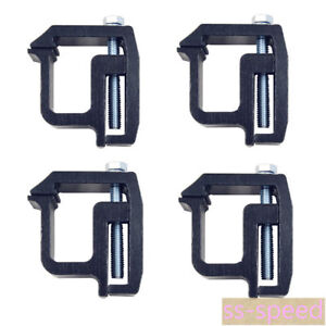 4pcs Black Mounting Clamps For Truck Caps And Camper Shell Tl 2002