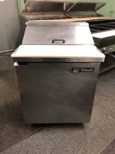 True Tssu 27 8 27 Used Commercial Sandwich Prep Table Cooler Used Sandwich Unit