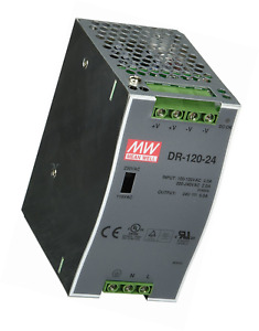 Mean Well Dr 120 24 Ac To Dc Din rail Power Supply 24v 5 Amp 120w 1 5