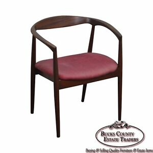 Danish Modern Vintage Curved Back Arm Chair By Raymor