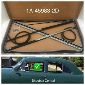 1949 1950 1951 Ford Tudor Coupe Passenger Car Front Door Glass Channel Kit