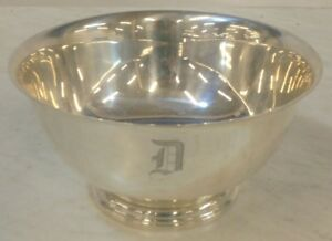 International Silver Co Sterling Silver Bowl Paul Revere D261 D Monogram