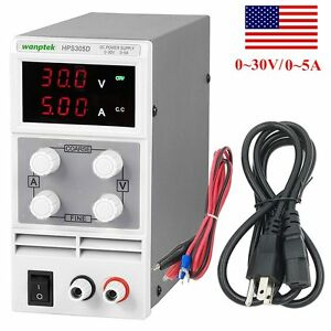 Adjustable Regulated Dc Power Supply Output 30v 5a Variable 3 Digital Display Fa