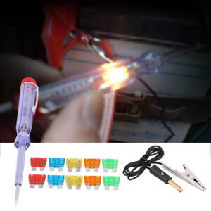 Auto Car Motorcycle Electric Circuit Tester Pen Probe Test W Blade Fuse Dc 6 12v