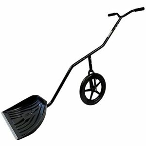 Easygo Snow Lever Adjustable Height Single Wheeled Thrower Shovel 24 Wide 15