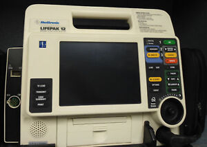 Lifepak 12 Biphasic 12 lead Ecg Aed Pacing Nellcor Spo2 Printer El Screen