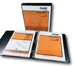 Case 1816 Uni Loader Skid Steer Service Manual Parts Catalog Repair Shop Book
