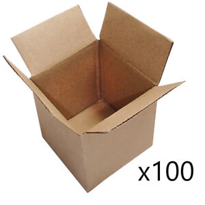 100 4x4x4 shipping Cardboard Box Packing Mailing Shipping Corrugated