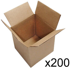 200 4x4x4 Cardboard Shipping Mailing Moving Packing Corrugated Boxes Cartons
