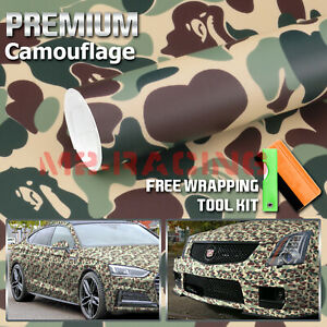 12 X60 Green Ape Camouflage Camo Car Vinyl Wrap Sticker Decal Film Air Release