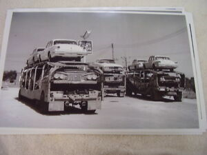New 1961 Dodge Plymouths On Car Carrier 11 X 17 Photo Picture