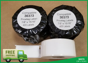 8 Roll Of 400 Adhesive Labels File Folder Tag Jumbo For Dymo Labelwriter 30373