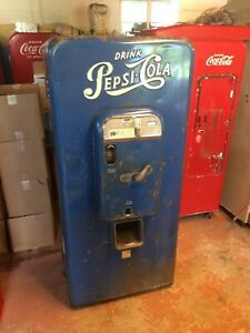 1950 s Antique Cs 72 Coca cola Soda Beverage Vending Machine Coke Pepsi Rc Crush
