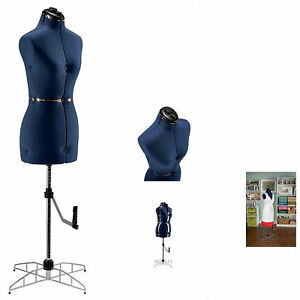 New Adjustable Sewing Dress Form Mannequin Small Medium Size Full Figured Women