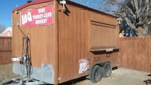 Concession Trailer Equipped With A Refrigerator 3 Compartment Sinks And More