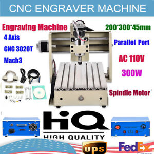 3 Axis Cnc 3020t Router Engraver Engraving Cutting Drilling Milling Machine 300w