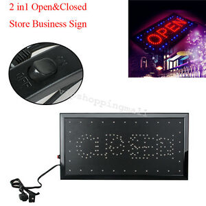 Led 2in1 Open Closed Store Shop Business Sign 9 8 18 9 Display Neon Nice