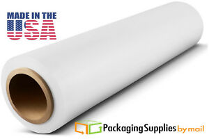 Hand Stretch Film 18 X 1000 White Shrink Plastic Wrap For Moving 100 Ga 28 Rls