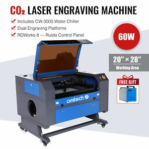 50w Co2 Laser Engraving Cutting Machine Engraver Cutter W rotary Axis 20 12