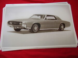 1967 Ford Thunderbird Coupe Head Lights Open 11 X 17 Photo Picture