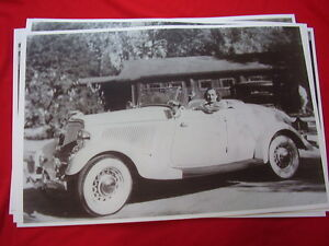 1934 Ford Roadster 11 X 17 Photo Picture
