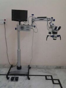 Ent Operating Microscope With Ccd Camera Led Monitor Ent Medical Equipment