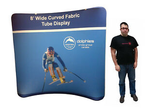 Trade Show 8 Tube Tension Fabric Pop Up Booth Display Exhibit Dye sub Print