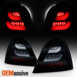 Fits 2004 2008 Pontiac Grand Prix Black Smoked Led Tube Tail Lights