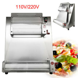 Auto Pizza Bread Dough Roller Rolling Sheeter Machine 0 5 5 5mm 110v 220v 370w